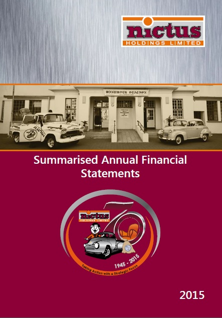Financial Statement 2015 Summary
